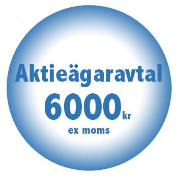 Aktieagaravtal online billigt fastpris 6000kr