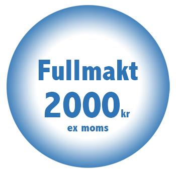 Fullmakt online billigt fastpris 2000 kr