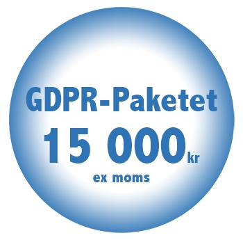 GDPR Paket online billigt fastpris 15000kr