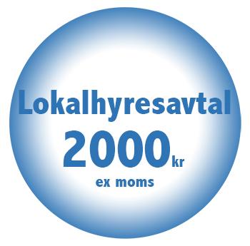Lokalhyresavtal online billigt fastpris 2000kr