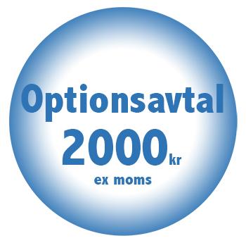 Optionsavtal online billigt fastpris 2000kr