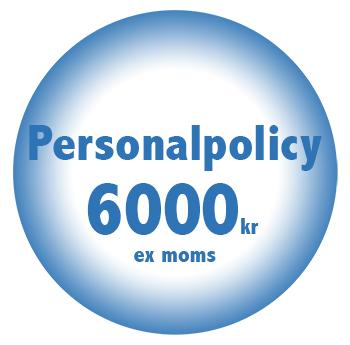 PErsonalpolicy online billigt fastpris 6000kr