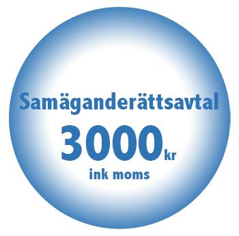 Samaganderattsavtal online billigt fastpris 3000kr