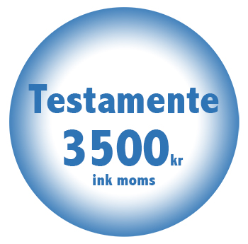 Testamente online billigt fastpris 3500kr